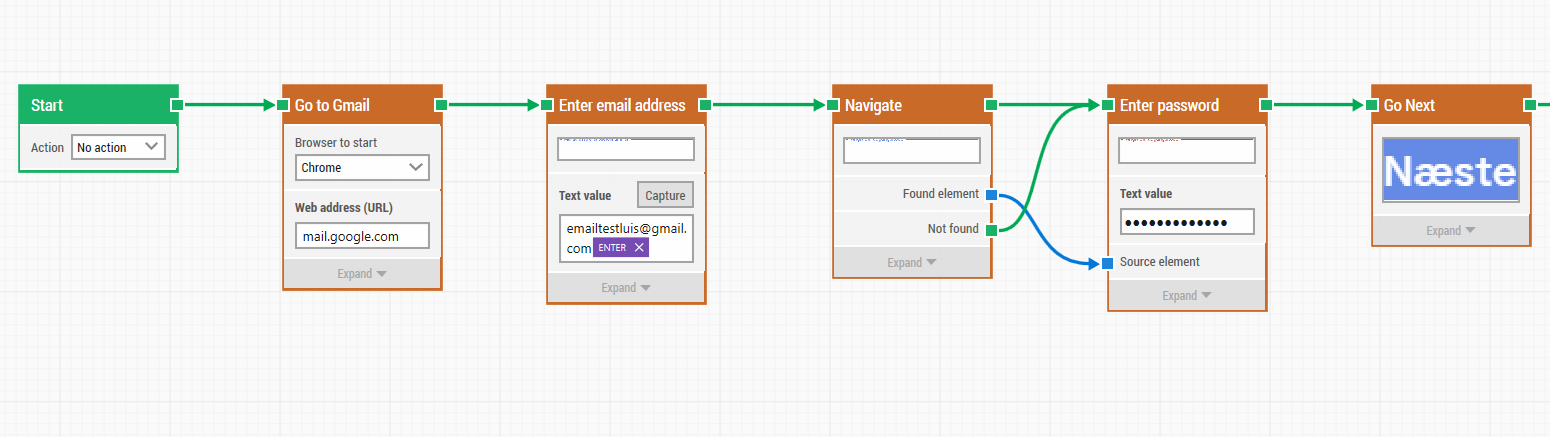 Create your automation workflow using LEAPWORK 1