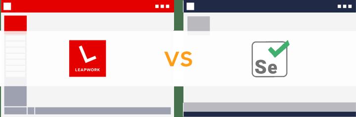 Comparison: Selenium IDE vs  LEAPWORK