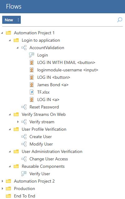 Flow menu - example