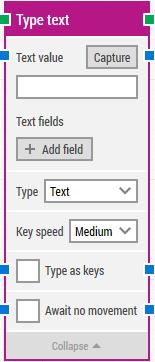 Type text building block