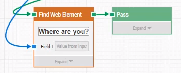 A screenshot of a Find Web Element building block in Leaptest.