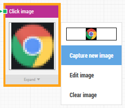 click the chrome icon to open the image menu