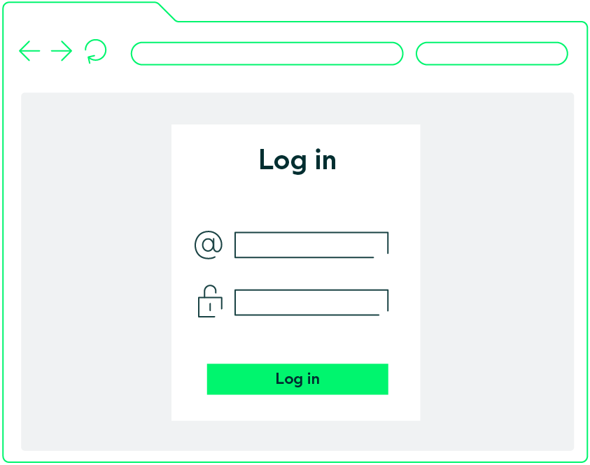 Log in web automation