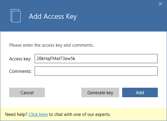 api access keys