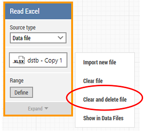 clear and delete excel file