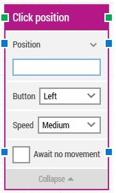 click position