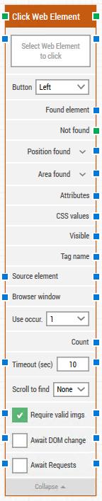 click web element