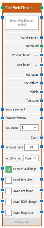 find web element
