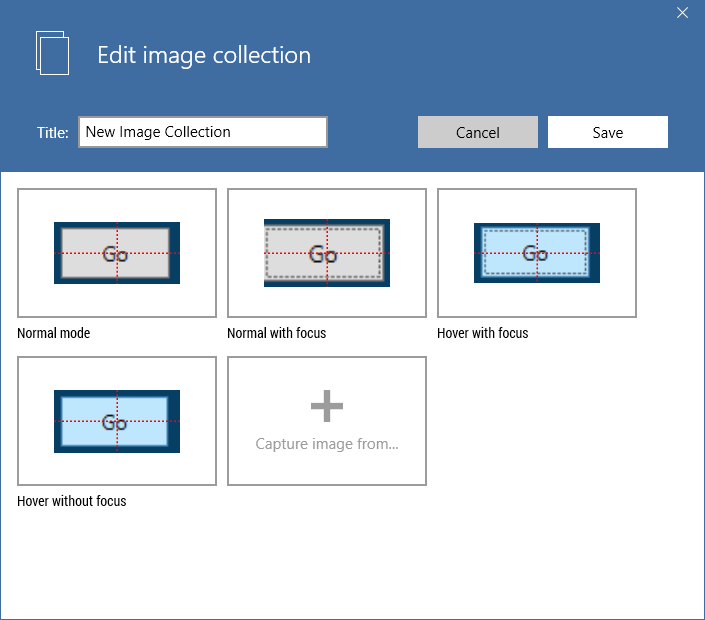 screenshot of the edit image collection module