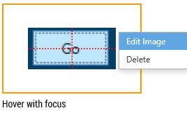 screenshot of the edit image module