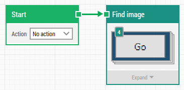 a leapwork flow using an image collection