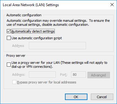 security-lan-settings
