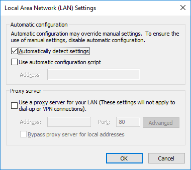 security-lan-settings