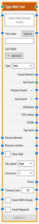 type web text