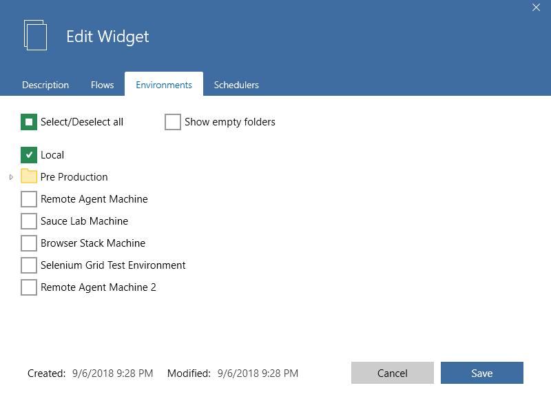 widget environments