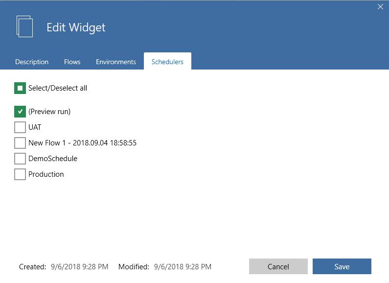 widget scheduler