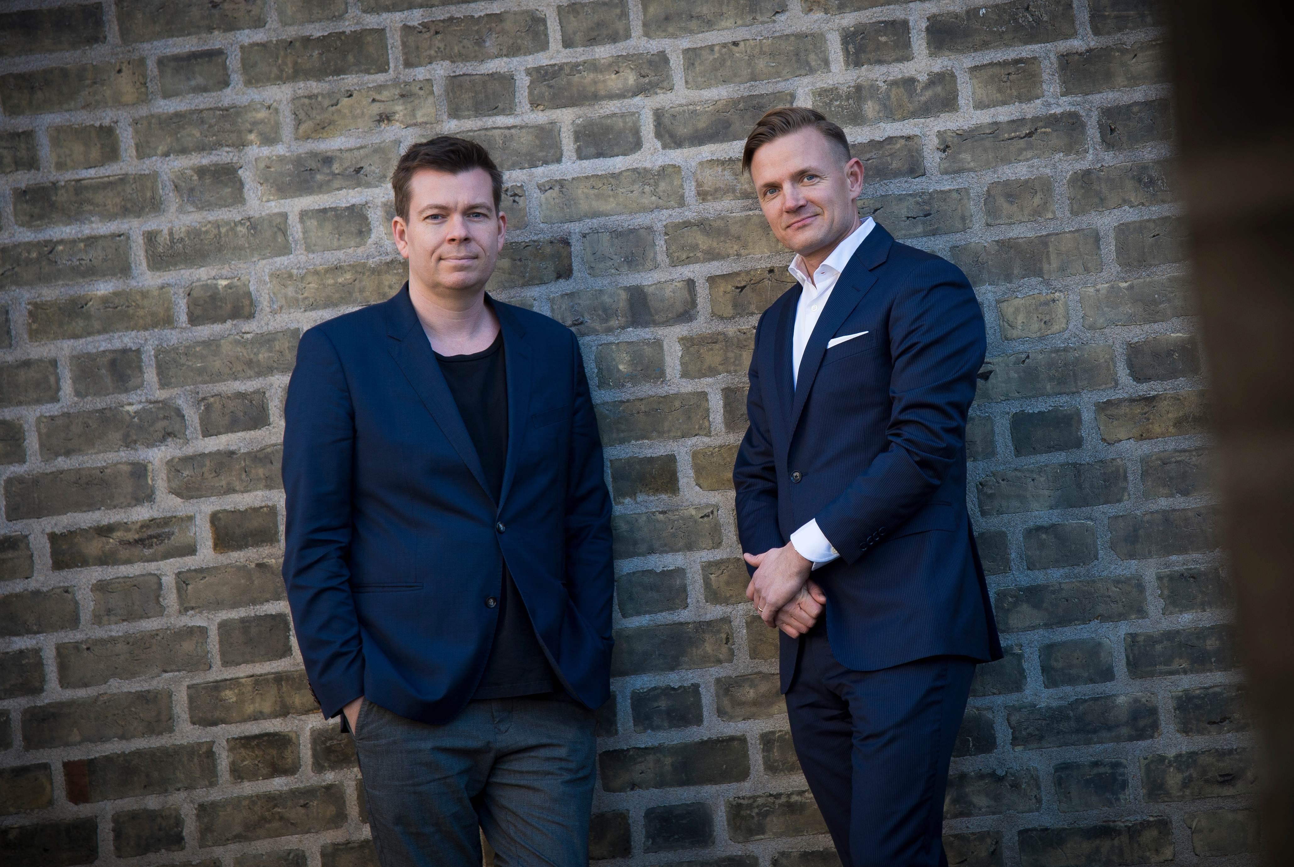 The co-founders of LEAPWORK, Christian Brink Frederiksen and Claus Topholt.