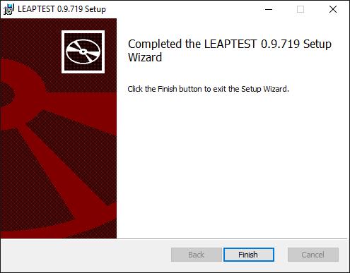 Leaptest MSI installer, finished installation