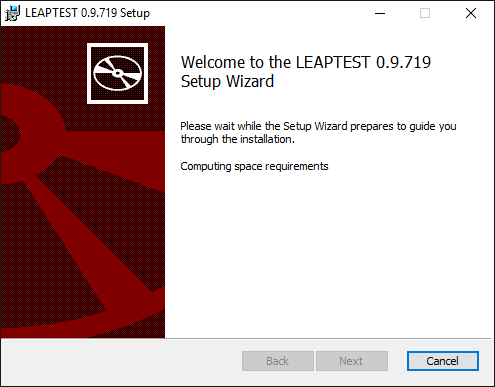 Leaptest MSI installer welcome message
